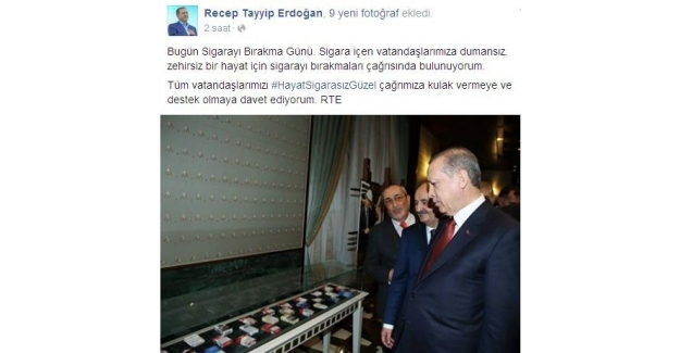 Cumhurbaşkanı Erdoğan Sosyal Medyadan 'Sigarayı Bırakma' Çağrısı Yaptı