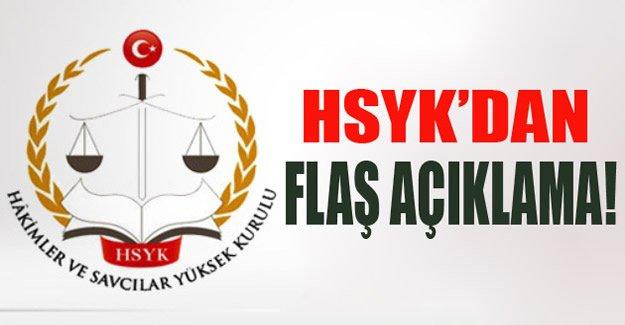 HSYK'dan Flaş Açıklama!