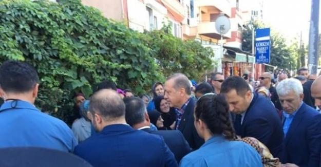 Erdoğan'dan eniştesine taziye ziyareti