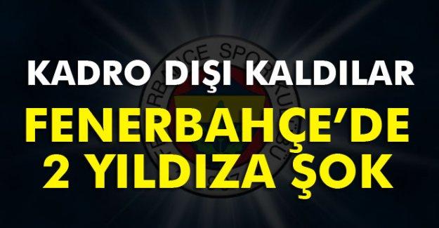Fenerbahçe'de İki Yıldıza Şok! Kadro Dışı Kaldılar