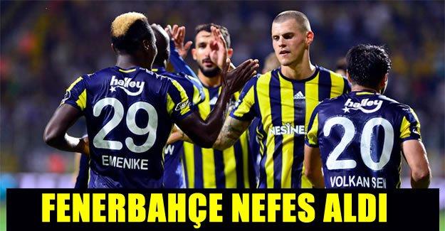 Fenerbahçe nefes aldı