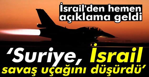 Flaş iddia: Suriye İsrail'in savaş uçağını düşürdü mü?