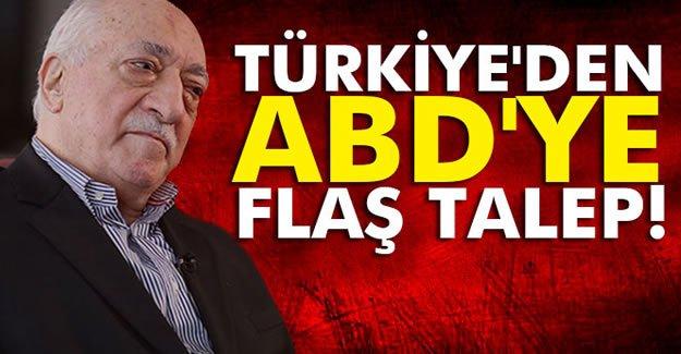 Türkiye'den ABD'ye Flaş Talep!