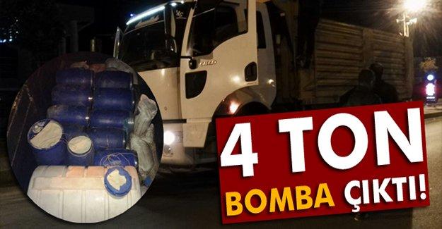 Kamyon'da 4 Ton Bomba Çıktı!