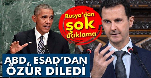 Lavrov: 'ABD, Esad'dan özür diledi'