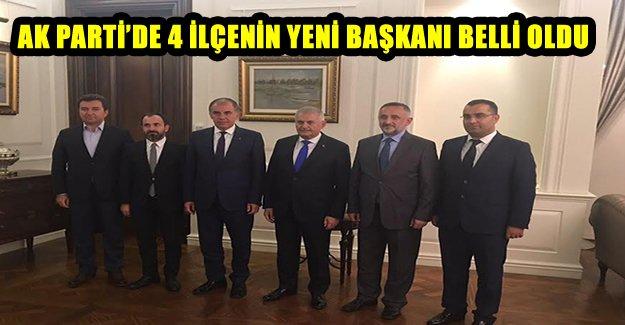 AK Parti'de 4 İlçenin Yeni Başkanı Belli Oldu