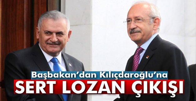 Başbakan'dan Kılıçdaroğlu'na sert Lozan çıkışı
