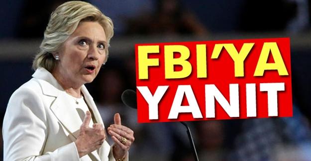 Clinton'dan, FBI'ya yanıt