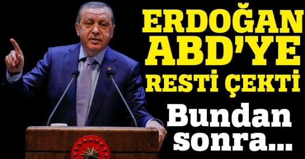 Cumhurbaşkanı Erdoğan'dan ABD'ye rest: Bundan sonra...