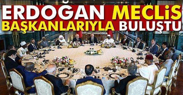 Cumhurbaşkanı Erdoğan,meclis başkanlarıyla buluştu
