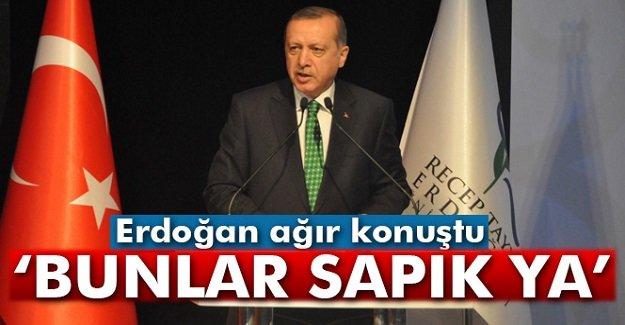 Erdoğan'da sert tepki: 'Bunlar sapık ya'