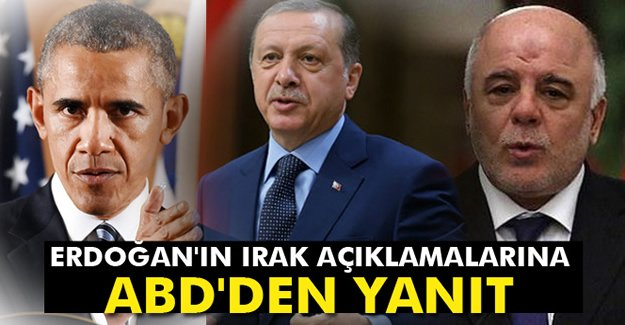 Erdoğan'ın Irak açıklamalarına ABD'den yanıt
