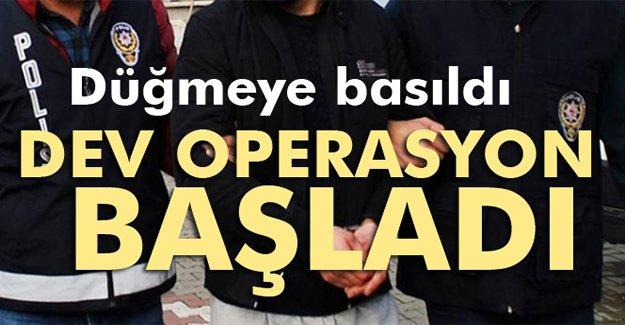 İstanbul merkezli 35 ilde FETÖ operasyonu