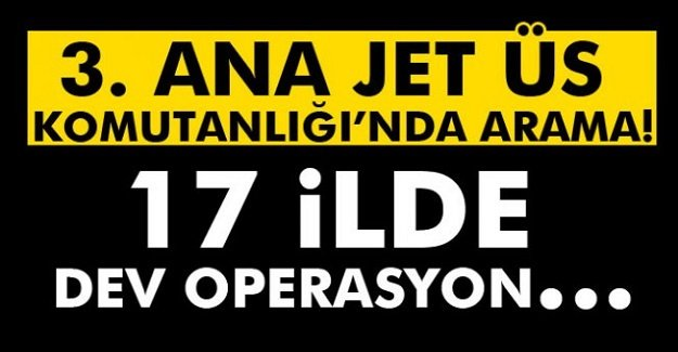 Konya 3. Ana Jet Üs Komutanlığı'nda operasyon!
