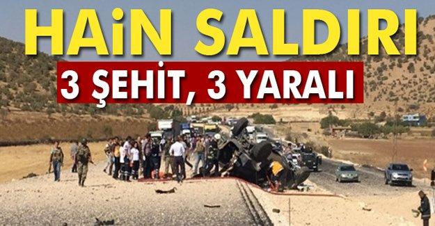 Mardin'de patlama: 3 şehit, 3 yaralı