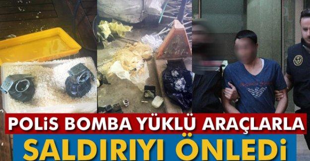 Polis bomba yüklü araçlarla saldırıyı önledi