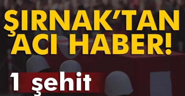 Şırnak'tan acı haber geldi!