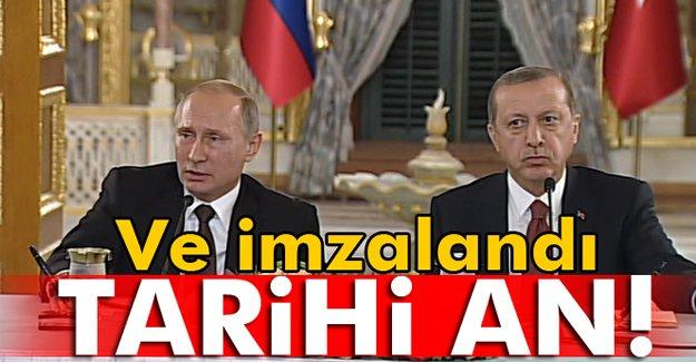 Türk Akımı anlaşması imzalandı
