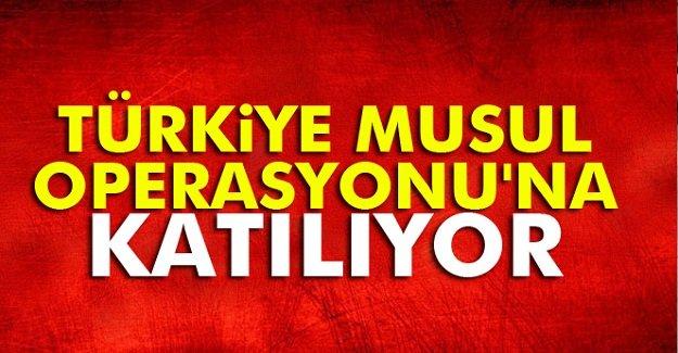Türkiye Musul Operasyonu'na katılıyor