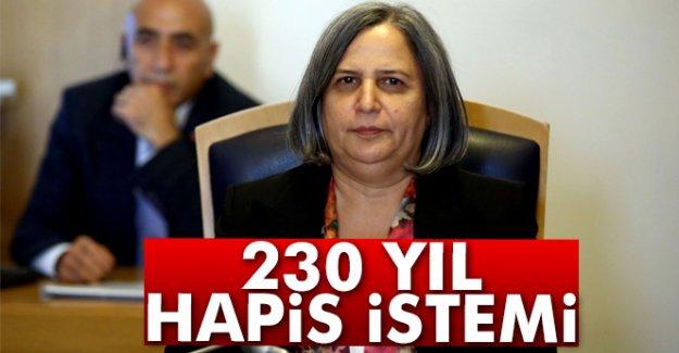 230 yıl hapis istemi