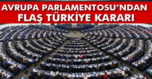 Avrupa Parlamentosu'ndan flaş Türkiye kararı