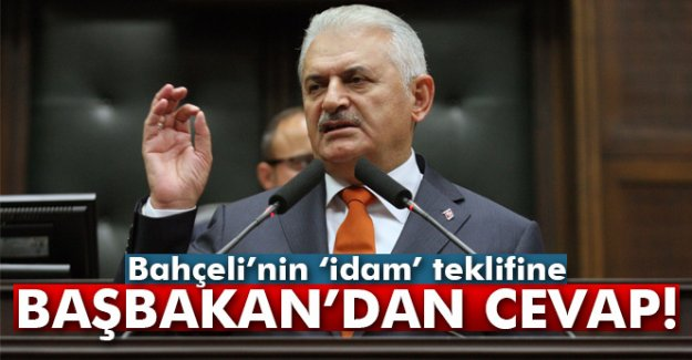 Bahçeli'nin 'İdam' Teklifine Başbakan'dan Cevap!