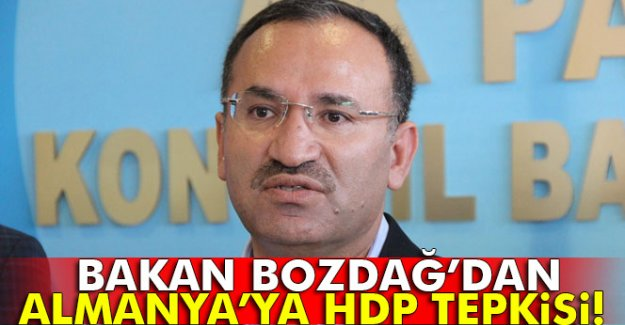 Bakan Bozdağ'dan Almanya'ya HDP tepkisi