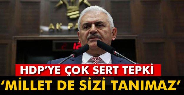 Başbakan'dan HDP'ye çok sert tepki