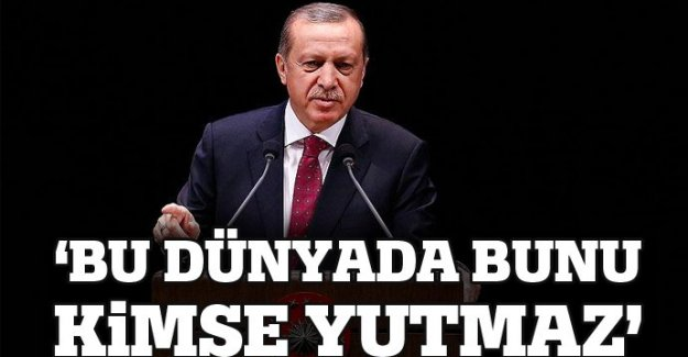 Cumhurbaşkanı Erdoğan: 'Bu dünyada bunu kimse yutmaz'
