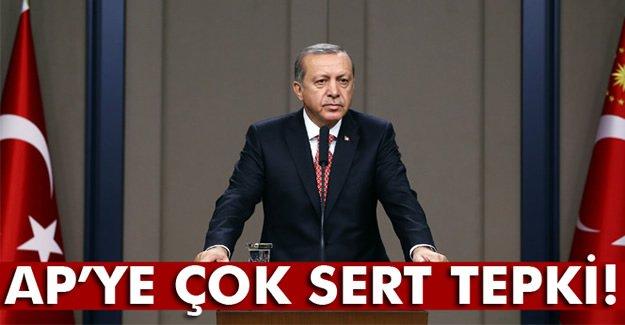 Cumhurbaşkanı Erdoğan'dan Avrupa Parlamentosu'na sert tepki
