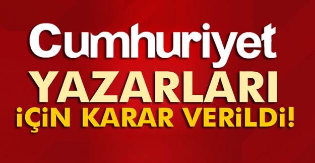 Cumhuriyet Gazetesi'nin 9 yöneticisi tutuklandı