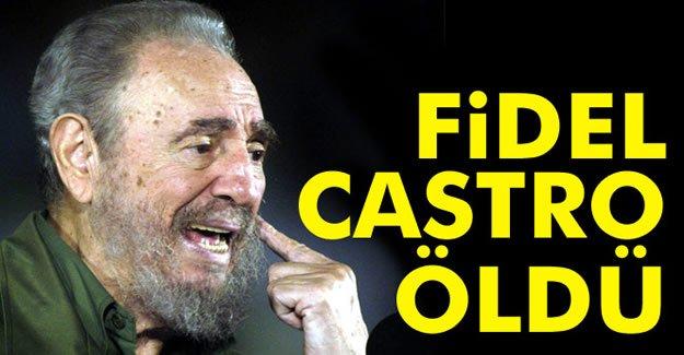 Dünyaca ünlü lider Fidel Castro öldü!