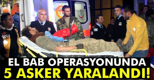 El Bab operasyonunda 5 asker yaralandı