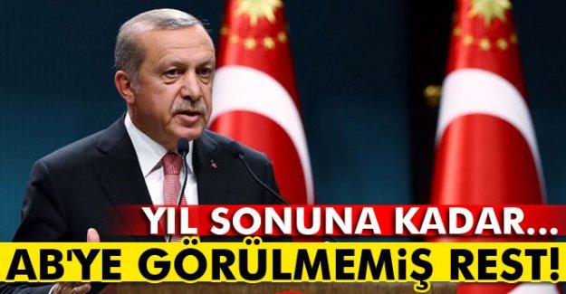 Erdoğan'dan AB'ye görülmemiş rest!