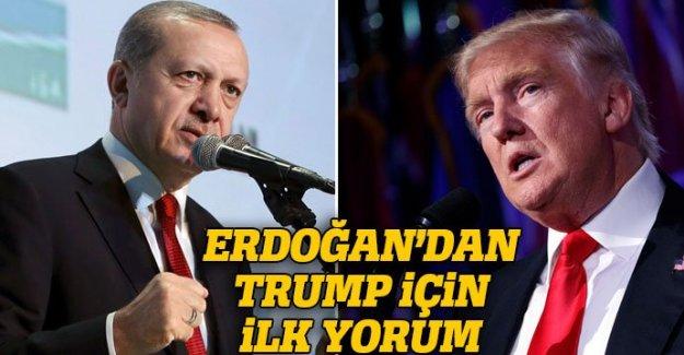 Erdoğan'dan Donald Trump için yorum