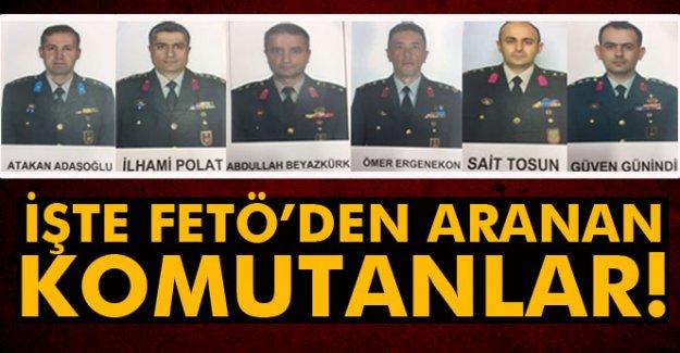 FETÖ'den firari 6 subayın fotoğrafı paylaşıldı