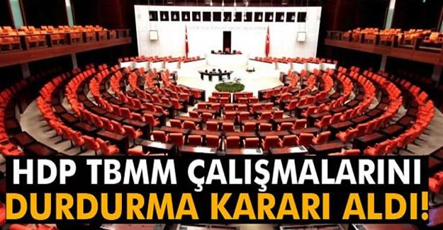 """HDP: """"Yasama çalışmalarını durdurmaya karar verdik"""""""