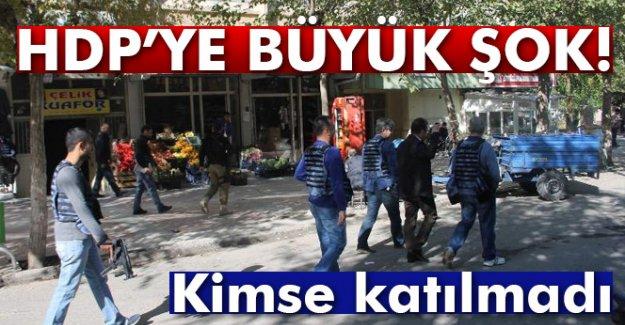 HDP'ye büyük şok! Kimse katılmadı