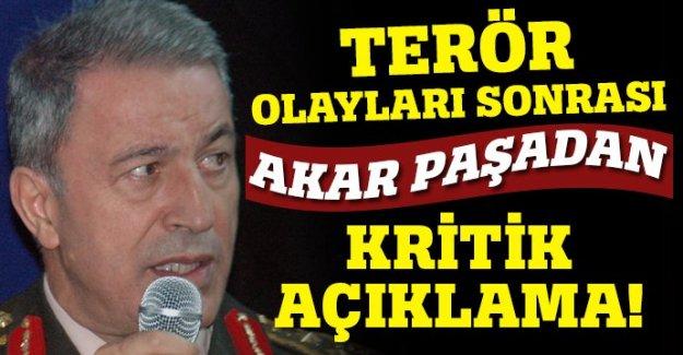 Hulusi Akar'dan terör açıklaması
