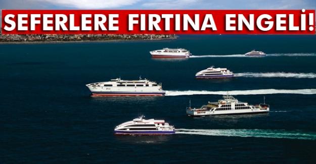 İstanbul'da İDO ve BUDO seferlerine fırtına engeli