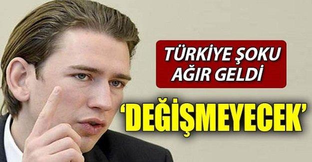 Kurz: Türkiye'ye karşı tutumumuz değişmeyecek