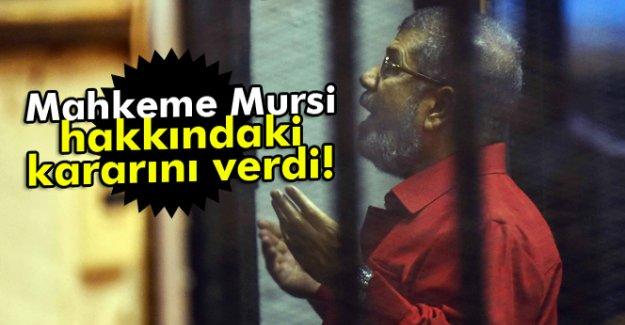 Mahkeme Mursi Hakkındaki Kararı Verdi