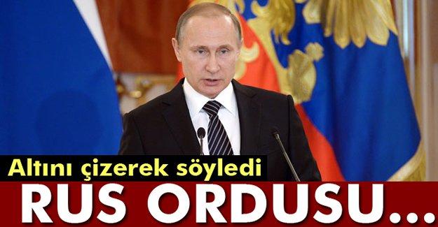 Putin: Rus ordusu kimseyi tehdit etmiyor