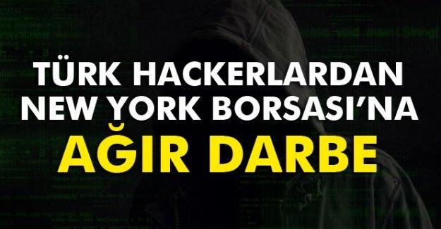 Türk hackerlardan New York Borsası'na Ağır Darbe