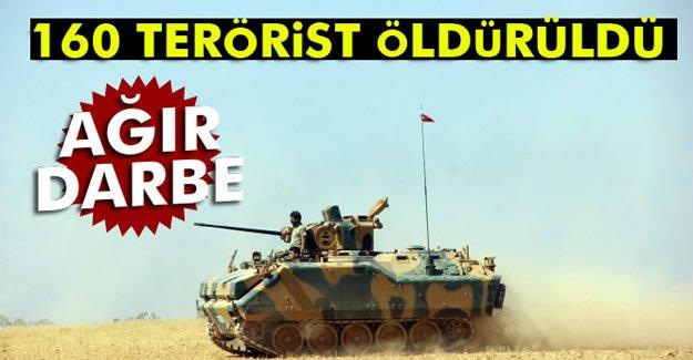 160 DEAŞ'lı terörist öldürüldü
