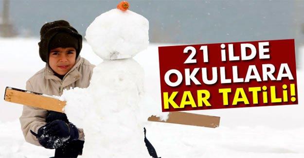 21 ilde okullara kar tatili