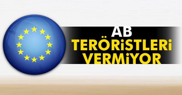 AB teröristleri vermiyor