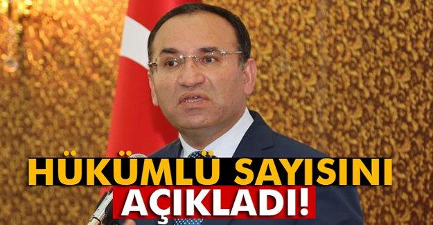 Adalet Bakanı Bozdağ hükümlü sayısını açıkladı!