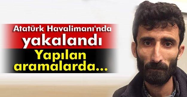 Atatürk Havalimanı'nda bir terörist yakalandı