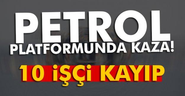 Azerbaycan'da petrol platformunda kaza: 10 işçi kayıp